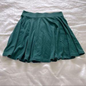 H&M Skater Style Skirt Emerald Green Small-Medium